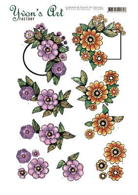 CD11678 3D Cutting Sheet - Yvon's Art - Label Flowers