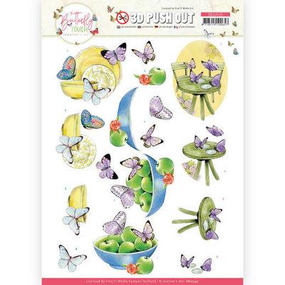 SB10545 3D Push Out - Jeanine's Art - Butterfly Touch - Purple Butterfly