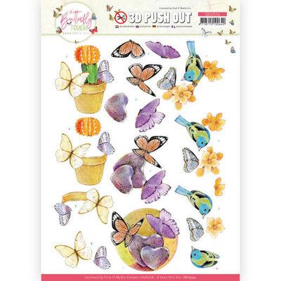 SB10544 3D Push Out - Jeanine's Art - Butterfly Touch - Orange Butterfly