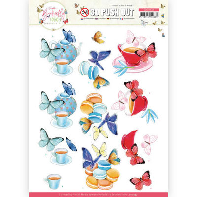 SB10543 3D Push Out - Jeanine's Art - Butterfly Touch - Blue Butterfly
