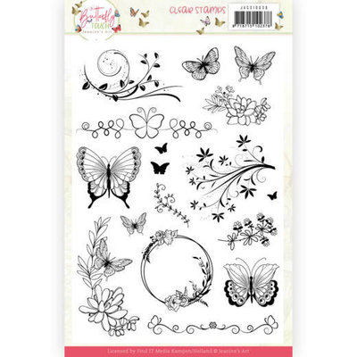 JACS10036 Clear Stamps - Jeanine's Art - Butterfly Touch