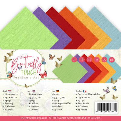 JA-4K-10013 Linen Cardstock Pack - 4K - Jeanine's Art - Butterfly Touch