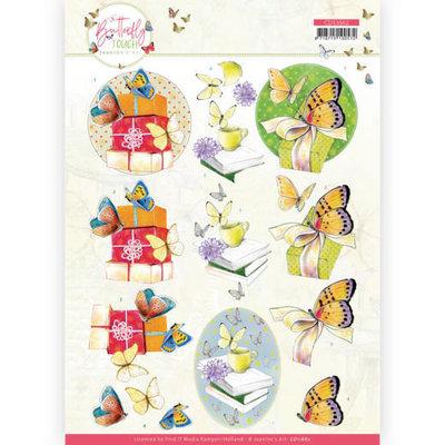 CD11662 3D Cutting Sheet - Jeanine's Art - Butterfly Touch - Yellow Butterfly