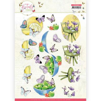 CD11661 3D Cutting Sheet - Jeanine's Art - Butterfly Touch - Purple Butterfly
