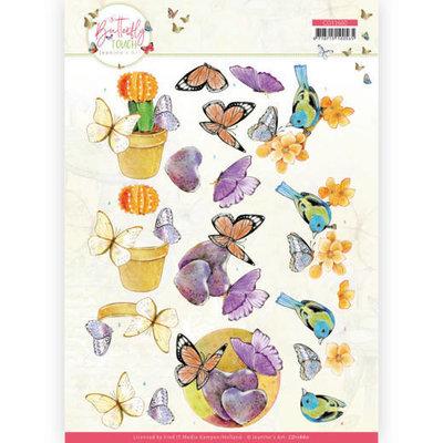 CD11660 3D Cutting Sheet - Jeanine's Art - Butterfly Touch - Orange Butterfly