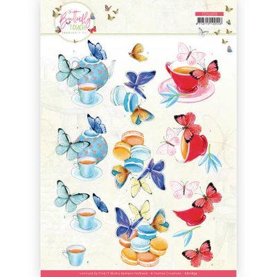 CD11659 3D Cutting Sheet - Jeanine's Art - Butterfly Touch - Blue Butterfly