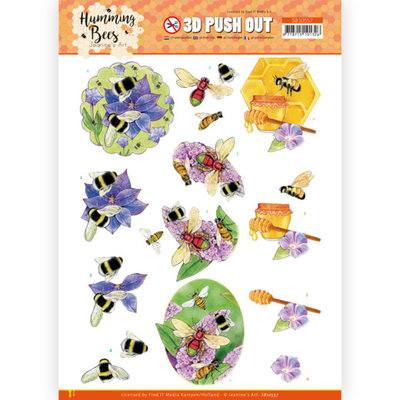 SB10557 3D Push Out - Jeanine's Art - Humming Bees - Honey