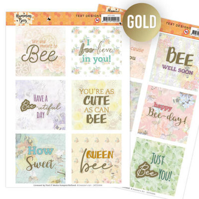 JATD1006 Text Designs -Jeanine's Art - Humming Bees (EN)