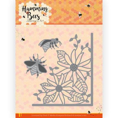 JAD10129 Dies - Jeanine's Art - Humming Bees - Flower Corner