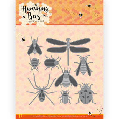 JAD10127 Dies - Jeanine's Art - Humming Bees - All Kinds of Insects