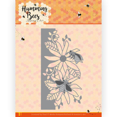 JAD10126 Dies - Jeanine's Art - Humming Bees - Flower Border