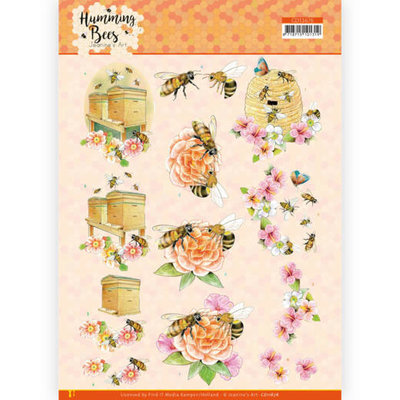 CD11676 3D Cutting Sheet - Jeanine's Art - Humming Bees - Beehive
