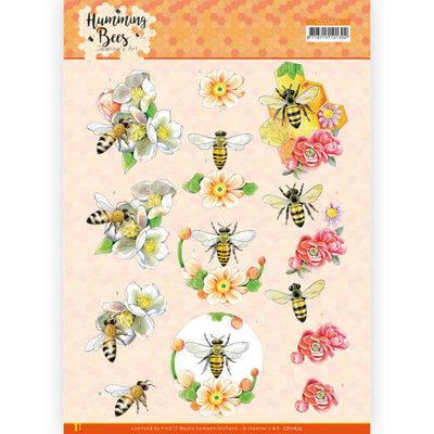 CD11675 3D Cutting Sheet - Jeanine's Art - Humming Bees - Bee Queen