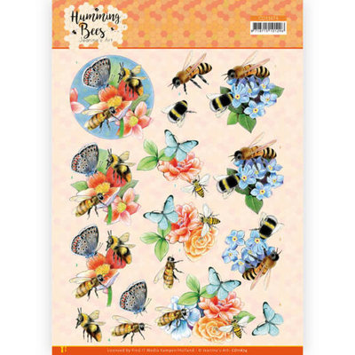 CD11674 3D Cutting Sheet - Jeanine's Art - Humming Bees -Bees and Bumblebee