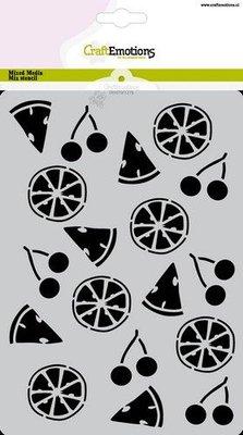 CraftEmotions Mask stencil Summer Fun - fruit A5 Carla Creaties (06-21)