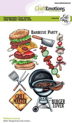 CraftEmotions clearstamps A6 - Barbecue party Carla Creaties (06-21)