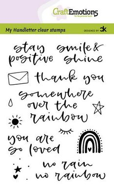 CraftEmotions clearstamps A6 - handletter - Rainbow 1 (Eng) Carla Kamphuis (06-21)