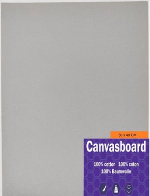 Canvasboard 30x40CM 3 mm (05-21) 250 gram per 10 stuks