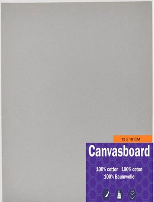 Canvasboard 13x18CM 3 mm (05-21) 250 gram per 10 stuks