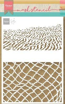 Marianne Design Craft Stencil - Tiny's Strand PS8095 21x15cm (06-21)