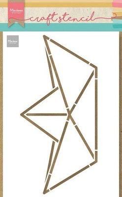 Marianne Design Craft Stencil - Papieren bootje PS8093 21x15cm (06-21)