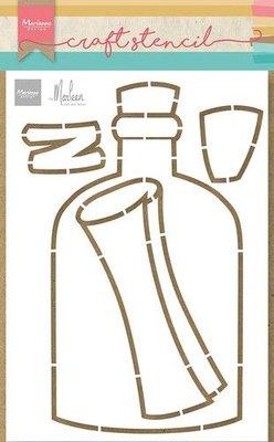 Marianne Design Craft Stencil - Flessenpost by Marleen PS8092 21x15cm (06-21)