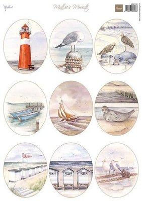 Marianne Design Decoupage Mattie's Mooiste - Strand ovaal MB0195 A4 (06-21)
