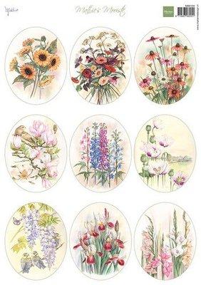 Marianne Design Decoupage Mattie's Mooiste - Veldboeket ovaal MB0194 A4 (06-21)