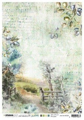 Studio Light Rice Paper Jenine's New Awakening nr.09 JMA-NA-RICE09 A4  (06-21)