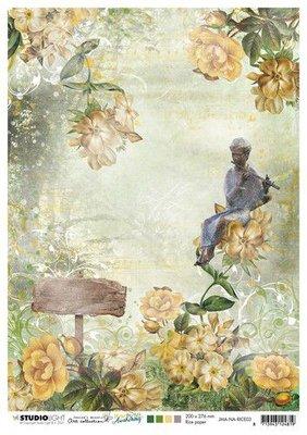 Studio Light Rice Paper Jenine's New Awakening nr.03 JMA-NA-RICE03 A4  (06-21)