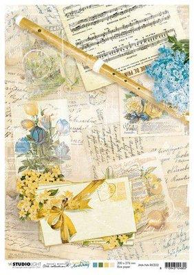 Studio Light Rice Paper Jenine's New Awakening nr.02 JMA-NA-RICE02 A4  (06-21)