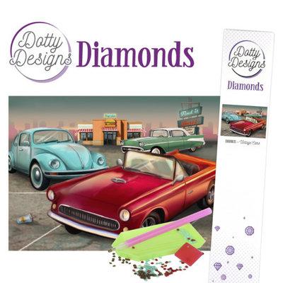 DDD1035 Dotty Designs Diamonds - Vintage Cars
