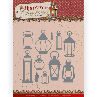ADD10248 Dies - Amy Design - History of Christmas - All Kinds of Lanterns