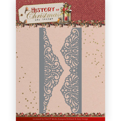 ADD10247 Dies - Amy Design - History of Christmas - Lacy Christmas Borders