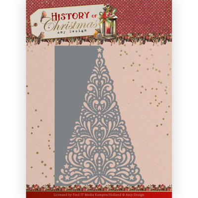 ADD10246 Dies - Amy Design - History of Christmas - Lacy Christmas Tree