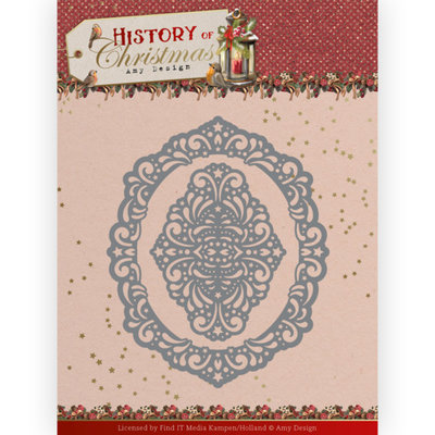 ADD10245 Dies - Amy Design - History of Christmas - Lacy Christmas Oval