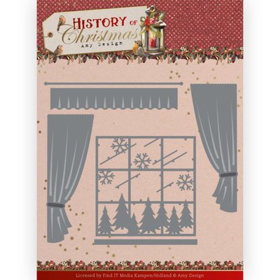 ADD10243 Dies - Amy Design - History of Christmas - Window with Curtains