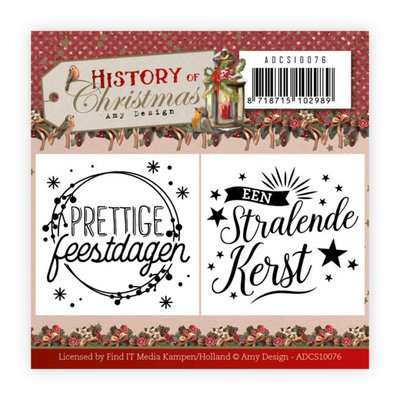 ADCS10076 Mini Clear Stamps Set - Amy Design - History of Christmas