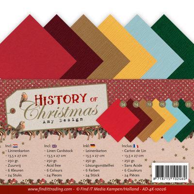 AD-4K-10026 Linen Cardstock Pack - 4K - Amy Design - History of Christmas