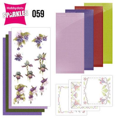 Sparkles Set 59 - Precious Marieke - Purple Flowers