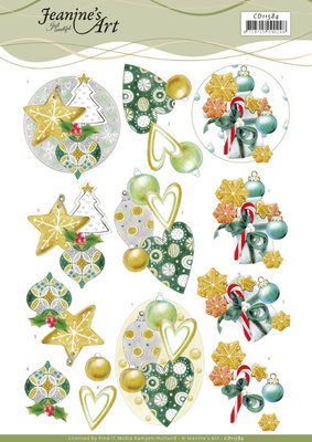 CD11584 3D Cutting Sheet - Jeanine's Art - Christmas Baubles
