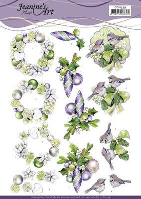 CD11539 3D Cutting Sheet - Jeanine's Art - Purple Christmas Baubles