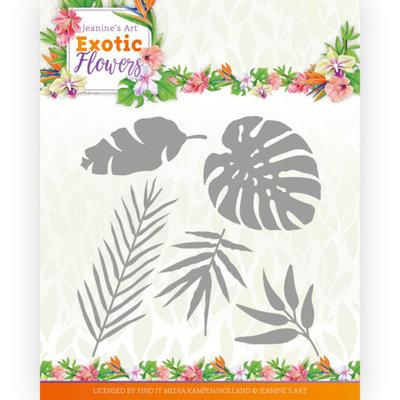JAD10132 Dies - Jeanine's Art - Exotic Flowers - Exotic Leafs