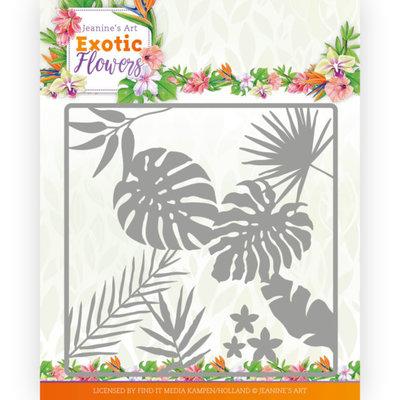 JAD10130 Dies - Jeanine's Art - Exotic Flowers - Leaf and Flower Frame