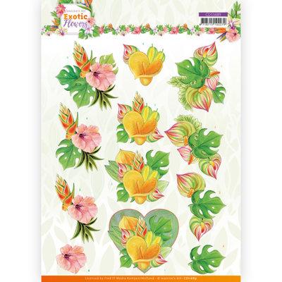 CD11689 3D cutting sheet - Jeanine's Art - Exotic Flowers - Orange Flowers