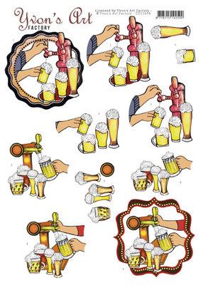 CD11694 3D Cutting Sheet - Yvon's Art - Beer