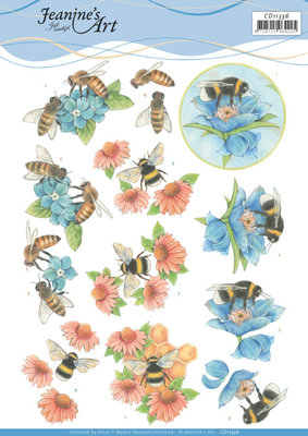CD11335 3D Cutting Sheet - Jeanine's Art - Bees and Flowers