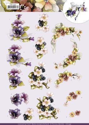 CD11597 3D Cutting Sheet - Precious Marieke - Flowers with Bow