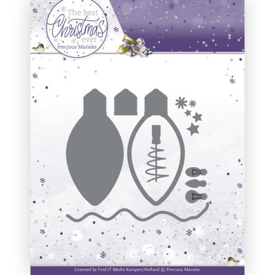 PM10213 Dies - Precious Marieke - The Best Christmas Ever - Christmas Lights