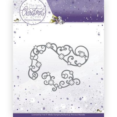 PM10212 Dies - Precious Marieke - The Best Christmas Ever - Star Swirls